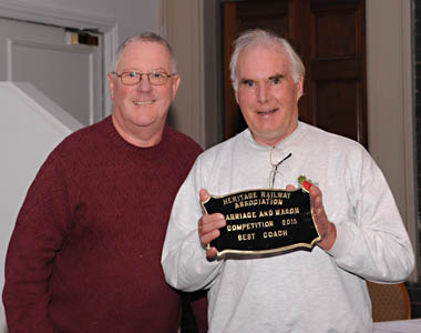 Trevor Rapley receives HRA Coach of the Year award - John Crane - 11 November 2015