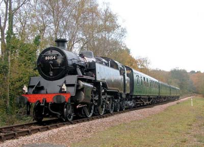 80154 with Bulleid coaches - 12 November 2006 - David Chappell