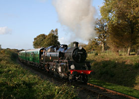 80151 with Bulleid coaches - 25 October 2009 - Andrew Strongitharm