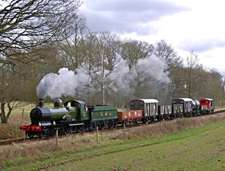 Dukedog with goods train - 30 March 2008 - Derek Hayward