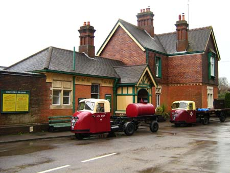 Scammell mechanical horses at Horsted Keynes - 30 March 2008 - Ashley Smith