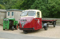 Railway vehicles, a Scammell mechanical horse and a platform luggage tug, at Horsted Keynes - 16 August 2008 - David Chapell