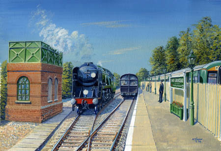 East Grinstead Station painting - Matthew Cousins