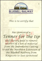 Tenner for the tip - sample  scan of certificate 1