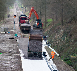 Ballast being laid from the South - John Sandys - 8 January 2013