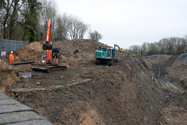 Work on west side of the cutting - John Sandys - 5 January 2013