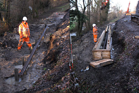 Piles linked and shuttering constructed - Mike Hopps - 16 January 2015