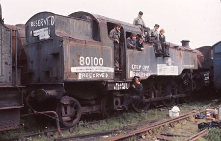 80100 at Barry scrapyard - John Piper - July 1976