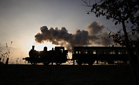 Autotrain in silhouette - 15 Feb 2008 - Jon Bowers