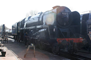 92212 on shed at Sheffield Park - Tony Sullivan - 29 March 2012