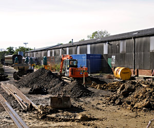 Work on foundations for carriage shed extension - Derek Hayward - 5 October 2014