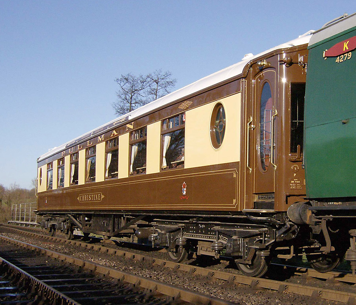bluebell railway carriages pullman christine car 64. Black Bedroom Furniture Sets. Home Design Ideas