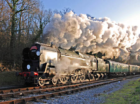 34028 Eddystone on Santa trains - December 2007 - Derek Hayward