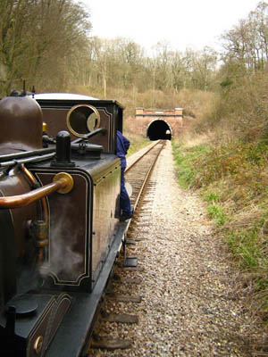 Fenchurch approaches the tunnel - 9 March 2008 - Ashley Smith