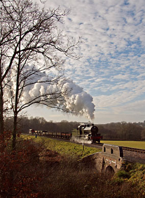7F 53809 on a goods train photo charter - 19 December 2008 - Paul Pettitt