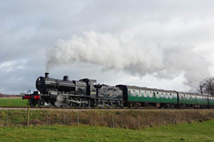 7F 53809 on 11am from SP towards Town Place Bridge - Phil Jemmison - 16 November 2008