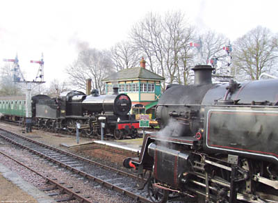 7F 53809 and 80151 at Horsted on Santa trains - 20 December 2008 - Ashley Smith