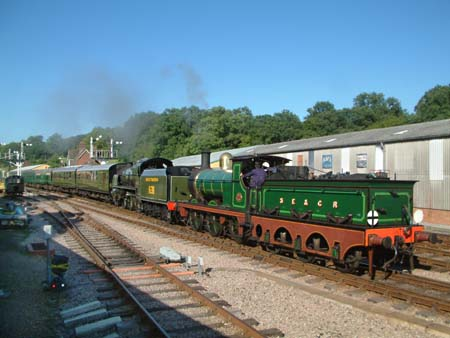Last train of the afternoon leaves Horsted - 7 August 2008 - David Chapell