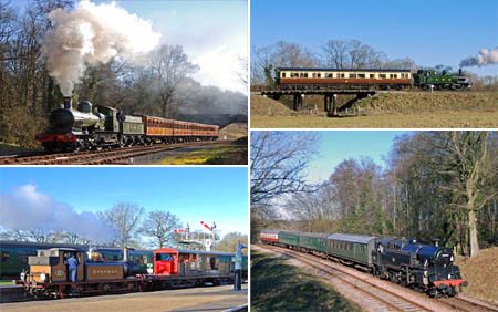 The four locos in use on 9 Feb 2008 - Derek Hayward