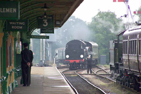 Trains passing at Horsted - 30 May 2008 - Bill Vigar