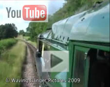 YouTube video from the footplate of Sir Archibald Sinclair  - 2 August 2009 - Waving Ganger Productions