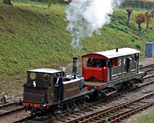 Fenchurch giving brake-van rides at Horsted Keynes - 25 October 2009 - Derek Hayward