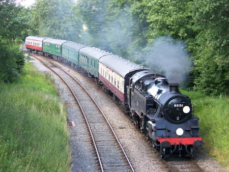 80151 approaches Horsted Keynes from the North - 23 July 2009 - Peter Austin