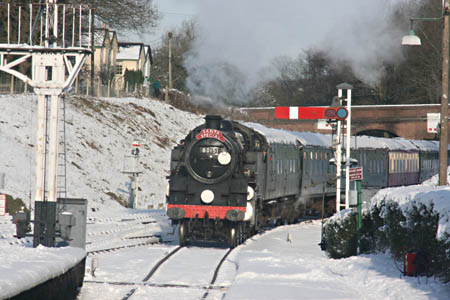 80151 with Santa Special train - 19 December 2009 - Tony Sullivan