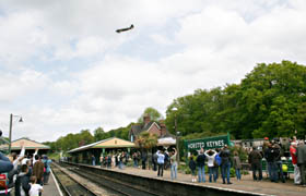 Dakota flypast at Horsted Keynes - 9 May 2009 - Andrew Strongitharm