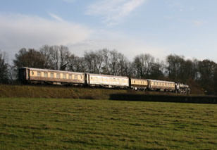 80151 with the Golden Arrow luncheon train south of Horsted Keynes - 22 November 2009 - Andrew Strongitharm