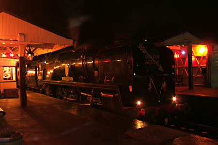 34059 in the evening at Sheffield Park - 12 December 2009 - Mike Lee