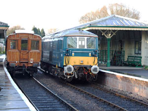 GN Saloon and E6043 Perseverance at Kingscote - Richard Salmon - 28 March 2009
