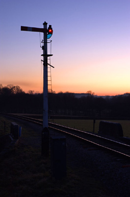Sunset at Horsted Keynes - 3 January 2009 - Martin Lawrence