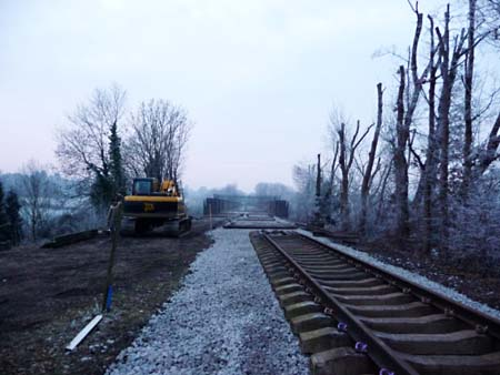 Tracklaying at East Grinstead - 10 January 2009 - Phil Jemmison