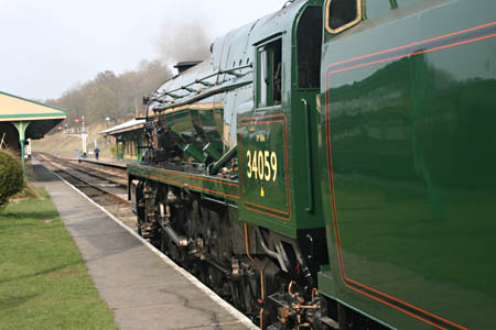 Sir Archibald Sinclair in steam at Horsted today - 6 Apr 2009 - Andrew Strongitharm