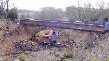Imberhorne Lane Bridge from the north - Chris Dadson - 6 Mar 2009