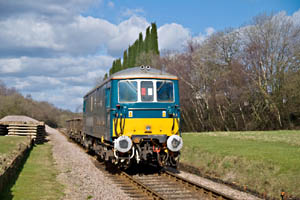 73136 with spoil train at West Hoathly - Tom Waghorn - 6 Mar 2009