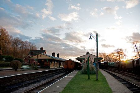 Horsted Keynes at sunset - 27 December 2009 - Martin Lawrence