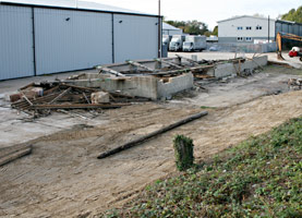 Old building on Woodpax site has been demolished - 19 October 2009 - Andrew Strongitharm