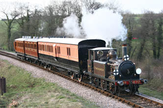 1520 relaunch special passing Tremains crossing - Andrew Strongitharm - 26 March 2010