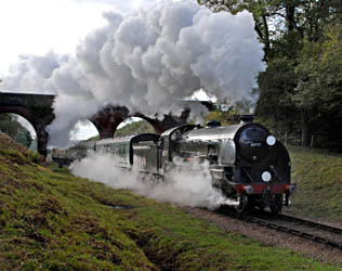 Sir Lamiel at 3-arch bridge - John Goss - 22 October 2010