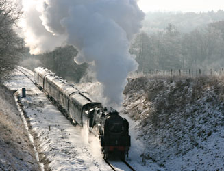34059 climbs Three Arch Bridge - Tony Sullivan - 26 December 2010