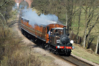 Fenchurch hauls the 1963 recreation southwards - John Goss - 7 March 2010