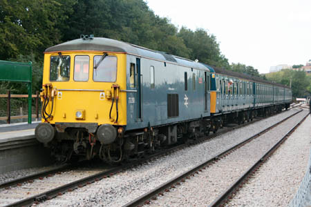 73208 and 4VEP at East Grinstead - Andrew Strongitharm - 2 September 2010