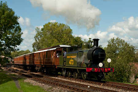 B473 with the Victorian carriages departing from Horsted Keynes - Martin Lawrence - 30 August 2010