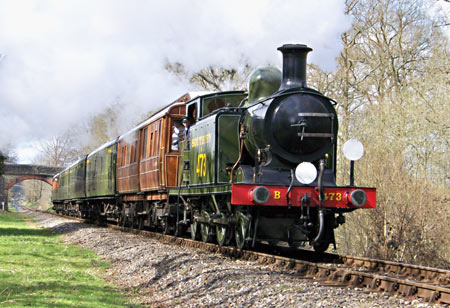 E4 with GN saloon and SR stock - Peter Austin - 4 April 2010