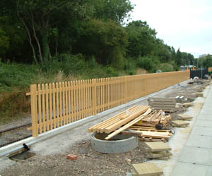 New fencing erected at East Grinstead - David Chappell - 27 July 2010