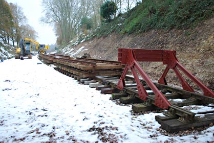 Track panels for running line south from East Grinstead - Pat Plane - 8 Dec 2010