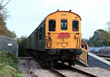 Hastings Diesel 1001 arrives at East Grinstead with the incoming railtour - Mike Hopps - 6 Nov 2010