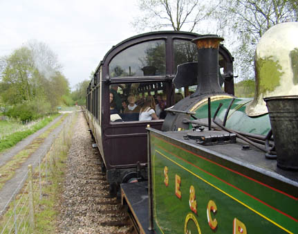 Observation Car from the footplate of 178 - Chris Gardner - 5 May 2010